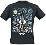 Nasa Abstract Camiseta Negro XXL
