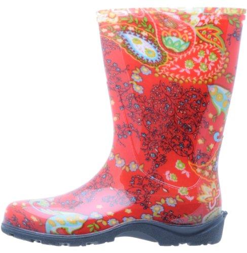 Sloggers bottes de pluie pour femmes, rouge paisley rouge paisley