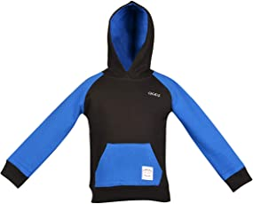 Gkidz Boys Full Sleeve Hooded Black Sweat Shirt(WWB-002-BLACK_Black)