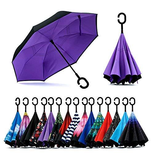 Jooayou Paraguas Invertido de Doble Capa