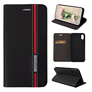 Asnlove iPhone X Case, Flip Folio Wallet Protective Cover PU Leather TPU Inner Card Slots Kickstand Feature Magnetic Closure Bookstyle Holster Bumper Skin Shell for 5.8