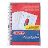 Herlitz 5896204 Dokumentenhülle A4 PP 10er Packung