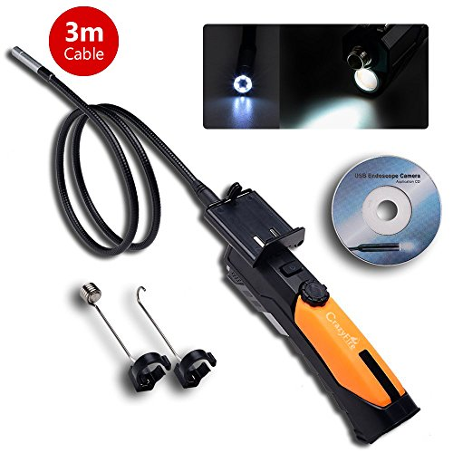 CrazyFire® HD 720P 2.0Megapixel impermeabile telecamera di ispezione boroscopio endoscopio Istantanea Video Wireless 3M 8,5mm Diametro tubo locator Collegare iPhone, iPad, telefono Android per
