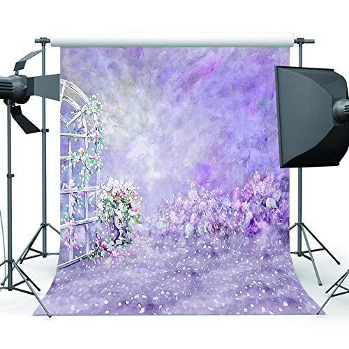 nd,Foto Lila Blume Fotografie Hintergrund Baby Foto Hintergrund Für Bild Fotostudio Requisiten @ Polycotton-3X6M ()