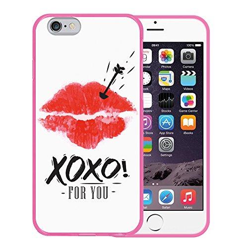 iPhone 6 6S Hülle, WoowCase Handyhülle Silikon für [ iPhone 6 6S ] Mondrian Stil Rechtecke Handytasche Handy Cover Case Schutzhülle Flexible TPU - Transparent Housse Gel iPhone 6 6S Rosa D0497