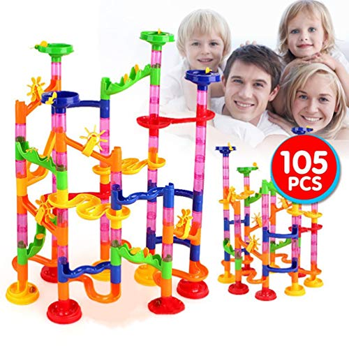 ALSGON Kugelbahn Murmelbahn,Marble Labyrinth Spielzeug-Set Marmor Rennbahn BAU Eisenbahn Bausteine Spielzeug FüR Jungen MäDchen 4 5 6 7 8 + Jahre Alt,176pièces (Mädchen-bau-spielzeug)