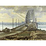 Colville Nijmegen Bridge Holland WWII War Painting Large