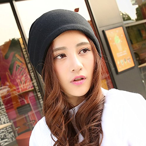 H¨¹te m?nnlichen Herbst Nacht-Cap Head cap kit Slim,Outdoor cap M?dchen cap Baotou Cap Koreanischen turban Haufen cap,Caps sind Code(Kraft),Schwarz (Tee Strass Schwarz)