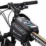 """WESTGIRL Fahrrad Rahmentasche wasserdicht - Fahrradtasche Oberrohrtasche Handy Tasche geeignet für 6,2"""" Smartphone, Sensitive Touch-Screen, große Kapazitätstasche, vollständig wasserabweisendes"""