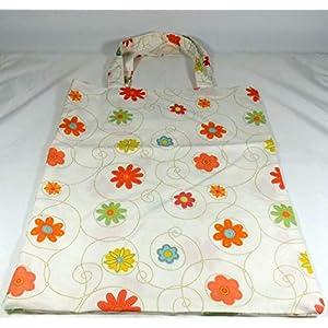 Einkaufstasche Stoffbeutel Blumen beige Blume Tasche handmade