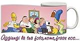 Tazza Mug Simpson Griffin Cartoni personalizzata con nome ecc Idea regalo