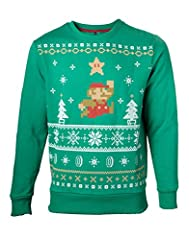 Idea Regalo - Nintendo Jumping Mario Christmas Sweater – Maat XL