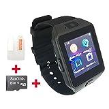 OCTelect GSM smart watch DZ09 con tre luci LED e batteria di grande capacità (black)