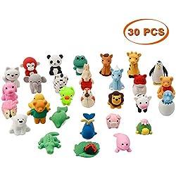 Twister.CK 30 Piezas Animal Rubber Toy Set, Material de Calidad alimentaria TPR para niños, favores de Partido, Juguetes educativos de Animales de Regalo