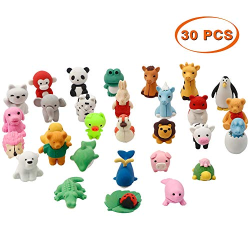 4cef46b3e346 CK 30 Piezas Animal Rubber Toy Set, Material de Calidad alimentaria TPR para
