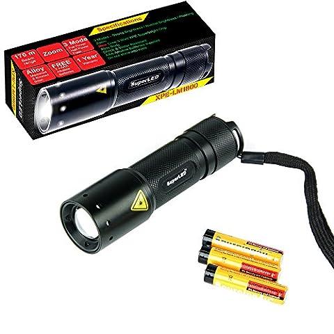 SuperLED SLEDCREE-MINI Mini torche Cree LED 3 Watt