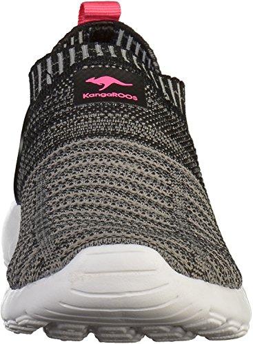 KangaROOS W-600 Kids, Sneaker Unisex – Adulto Schwarz (Jet Black/Daisy Pink)