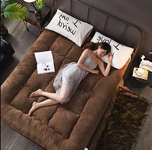 C&DIAN Lamb samt matratze,Verdickt Quilted matratze,1.5m Student Schlafsaal Sitzkissen,Matratze,1.8m-B 180x200cm(71x79inch) -