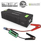 Uvistar Autostarter Powerbank Starthilfe KFZ mit Zigarettenanzünder Autobatterie Anlasser Fremdstarten Notladegerät, für Laptop Smartphone Tablet, 20000 mAh