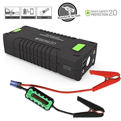 Preisvergleich Produktbild Uvistar Autostarter Powerbank Starthilfe KFZ mit Zigarettenanzünder Autobatterie Anlasser Fremdstarten Notladegerät,  für Laptop Smartphone Tablet,  20000 mAh