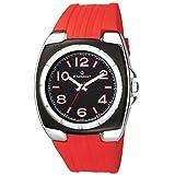 Radiant New ra117602-Reloj de Pulsera de Hombre, Correa de Caucho Color Rojo
