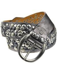 Bags4Less - Cinturón de cuero tallas grandes con tachuelas