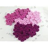 30 kleine Häkelblüten