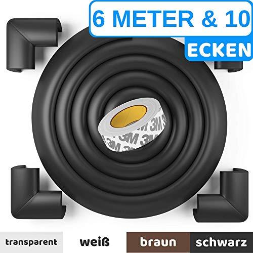 Premium Kantenschutz von BEARTOPTM - weiß, schwarz, braun - sehr starker Kleber für dauerhaften Schutz - für Tische, Arbeitsplatten, Kommoden usw. - aus weichem Schaumstoff -100{c15f09ef3faf034bb014b21533011d389a371ede9431fa3b8a74ad379c3b91c7} ZUFRIEDENHEITSGARANTIE