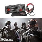 Bundle Ziva Gaming Teclado, Auricular, Mouse Y Alfombrilla + Juego DE Regalo Rainbow Six Siege