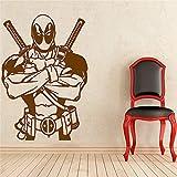 zhuziji Deadpool Wall Decal Superhero Vinyl Aufkleber Wall Decor wasserdicht Decal Home Decor...