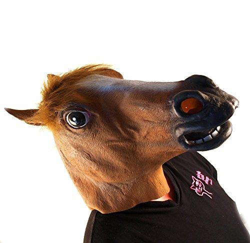 Maske HORSE HEAD - für das Pferd in dir! (Harlem Shake Halloween)