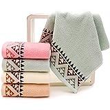 Juego de toallas de mano de 100 % algodón, toallas de baño, multicolor con alta absorción (Variedad)