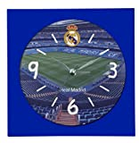 Real Madrid C.F. - Reloj despertador cuadrado diseño, 14 x 14 cm (Seva 9102140)