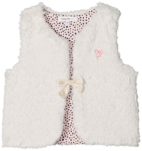 Noppies Baby-Mädchen G Waistcoat Hartford Weste, Weiß (Dove C012), 74 -