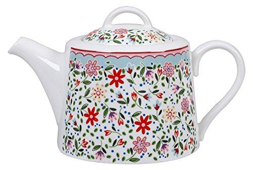Fine China Teapot (The Caravan Trail 830 ml, feines Porzellan, Riveria Fowey Admiral 4 Person, mehrfarbig, Farbe)