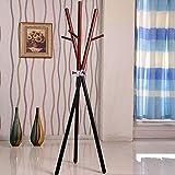 Kleiderablage Chunlan Bodengarderobe, Massivholz + Metall, 6 Haken, Zwei Farben zur Auswahl (Farbe : B)