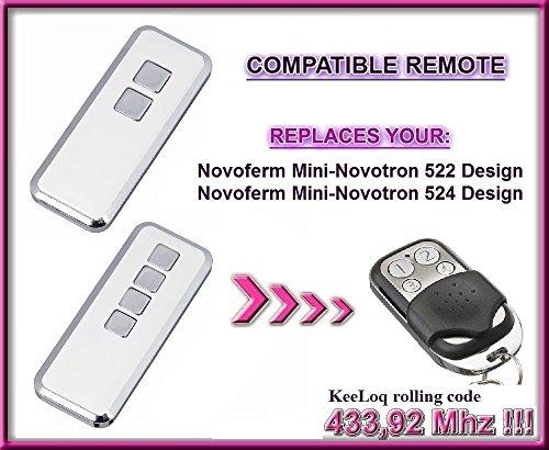 NOVOFERM/NOVOTRON 512 Mini Carbon Compatible Mando a distancia 4canales 433,92mhz rolling code Reemplazo emisor de alta calidad para el mejor precio. 2 MIX43