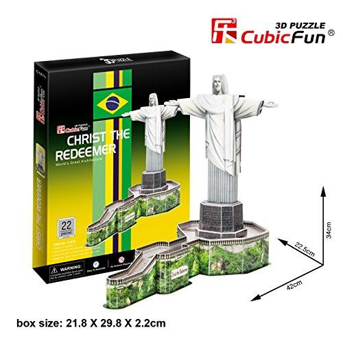 Preisvergleich Produktbild 3D Puzzle Christ the Redeemer Jesus Statue Cubic Fun Christusstatue Statue Christus Brasilien Rio the Janeiro
