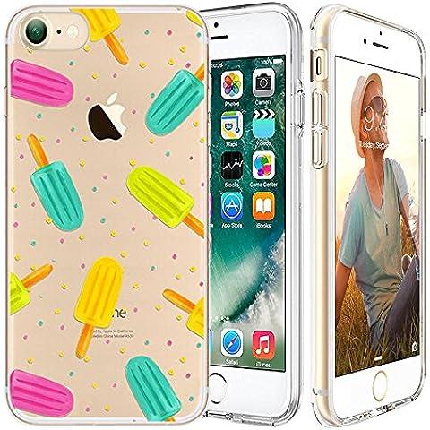 iPhone 7 Custodia,Apple iPhone 7 (4.7 inch) Custodia,Richoose iPhone 7 TPU [Slim Fit] Cancella TPU Gel Della Gomma Custodia Protettiva,Cassa del Respingente Crystal Clear Trasparente Custodia Protettiva per iPhone 7 4.7 inch - Colorful Popsicle