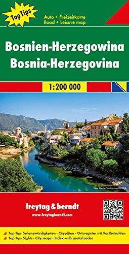 Bosnia y Herzegovina, mapa de carreteras. Escala 1:200.000. Freytag & Berndt. por VV.AA.