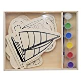 #6: SRI Diy Wooden Kids Transportation Coloring Toys By SRI- 5 Pieces