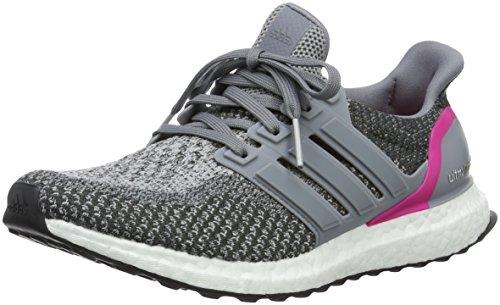 adidas Ultraboost, Chaussures de Running Compétition Femme Gris (Grey/grey/shock Pink)
