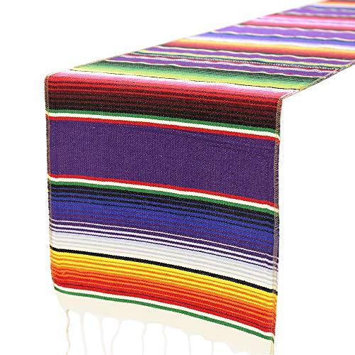 Tischläufer 14x 84Für Mexikanische Fiesta Mottoparty Geburtstag Dinner Party 14x84inch Bunt ()