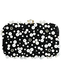 Tooba Handcrafted BLCAWP Women's Box Clutch (Black)