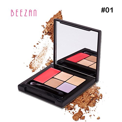 Fulltime Fond de teint Concealer Foundation Palette Crème Hydratante Maquillage (A)