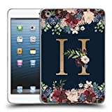 Head Case Designs Offizielle Nature Magick H Blumiger Monogramm Gold Navy Soft Gel Hülle für iPad Mini 1 / Mini 2 / Mini 3
