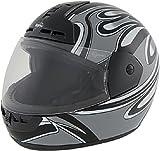 ROADSTAR Integral-Helm Arrow , Dekor Wave, silber, Größe S