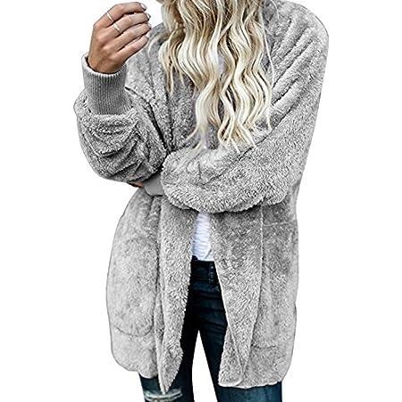 Les Femmes Manteaux et Blousons Cardigan Furry Occasionnels Outercoat Chaud Jacket Sweat-Shirts Tops