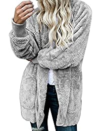 Les Femmes Manteaux et Blousons Cardigan Furry Occasionnels Outercoat Chaud Jacket Sweat-Shirts Tops