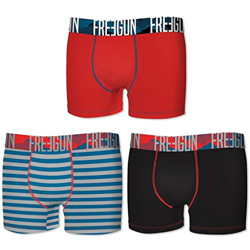 Freegun Herren Boxershort Rouge/Rayure